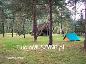 Pole namiotowe w Andrzejówce