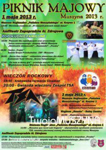 Piknik Majowy 2013 w Muszynie - plakat