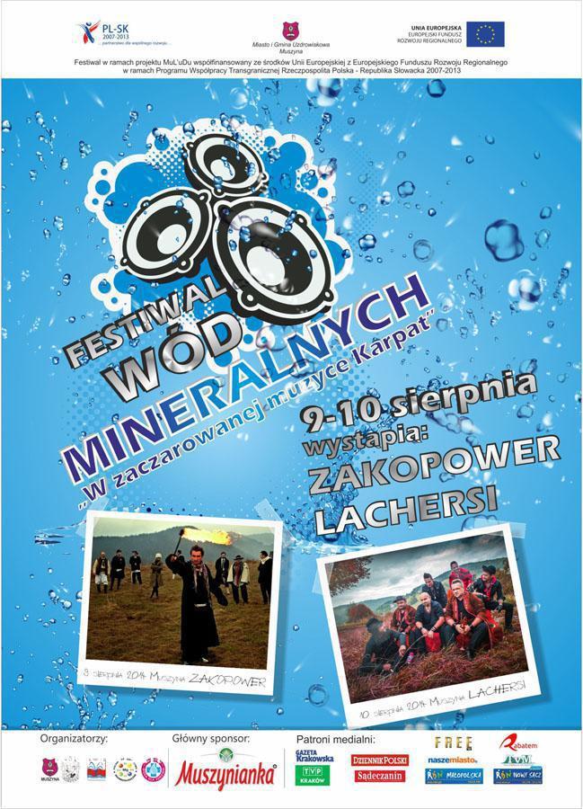 Festiwal Wód Mineralnych - plakat informacyjny cz 1