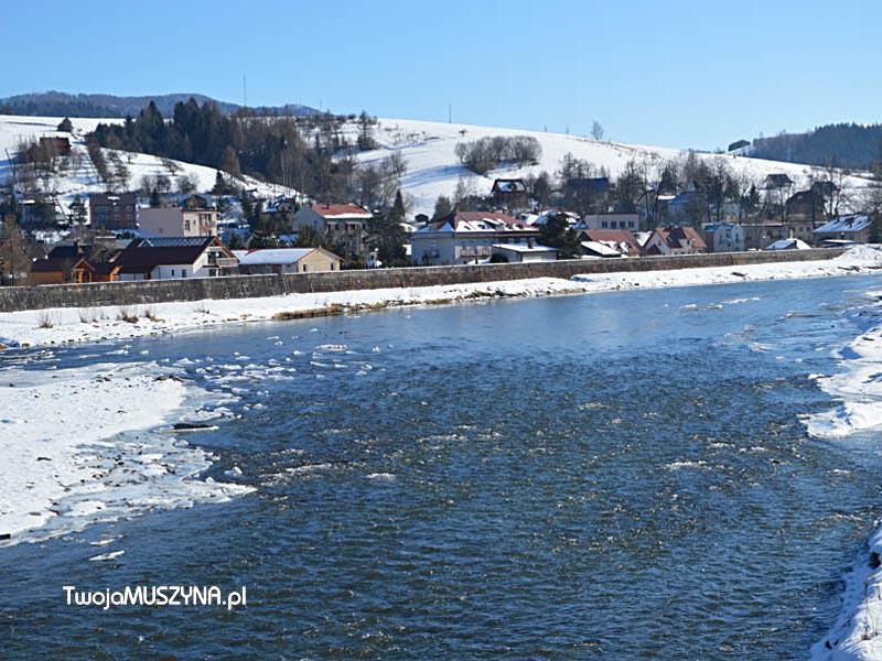 Muszyna Zapopradzie - widok na rzekę