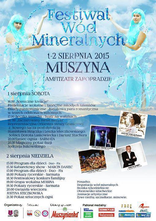 Plakat Festiwalu Wód Mineralnych