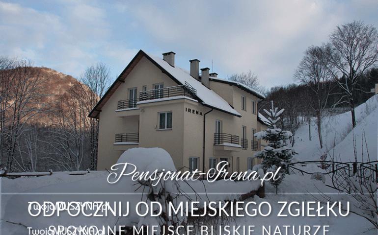 Ośrodek IRENA w Żegiestowie zimą