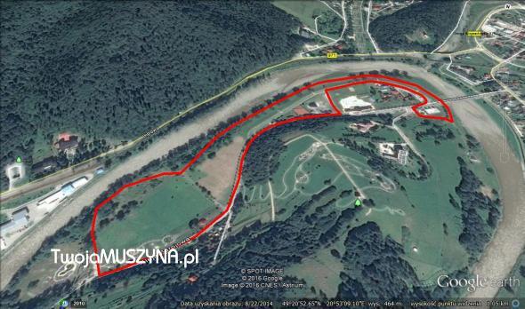 Bieg Muszynianki - trasa