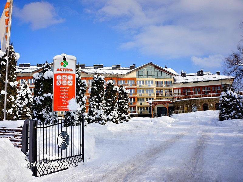Hotel Activa w Muszynie - zimowa sceneria