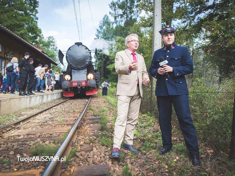 Pociąg retro w Piwnicznej