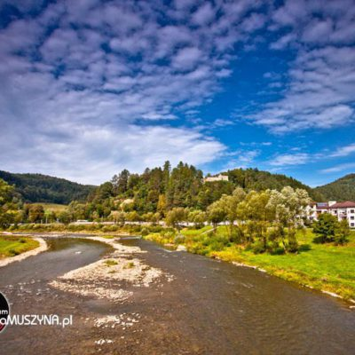 Muszyna - widok na Poprad i Basztę