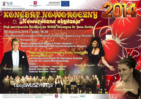 Koncert Noworoczny w Muszynie - plakat