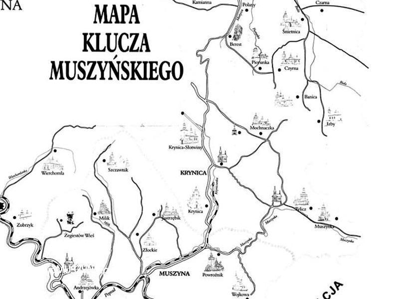 Mapa Klucza Muszyńskiego