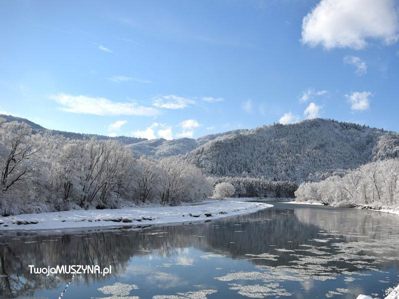 Poprad - rzeka zimą