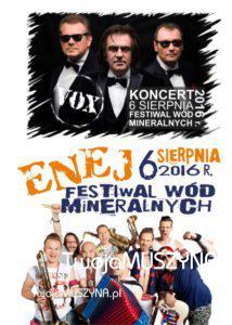 Festiwal Wód Mineralnych 2016 - plakat