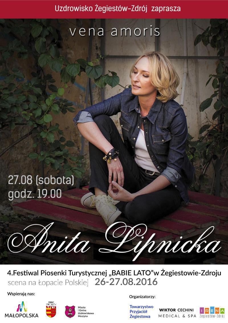 Koncert Anity Lipnickiej - plakat