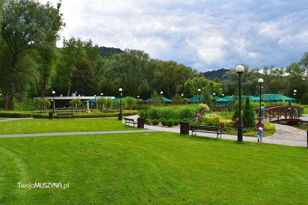 strefa wypoczynkowo-rekreacyjna Park Zapopradzie Muszyna