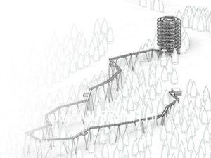 Ścieżka w koronach drzew - projekt