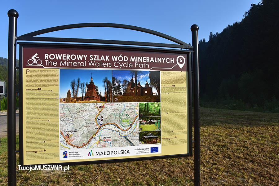 Rowerowy szlak wód mineralnych tablica informacyjna w Miliku zdjęcie 03