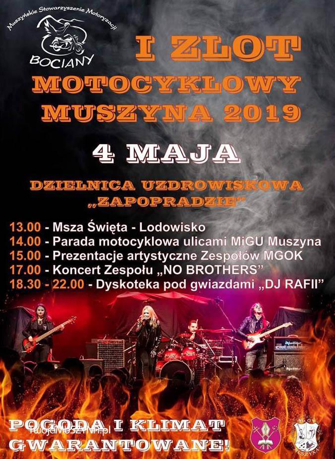 I Zlot Motocyklowy Muszyna 2019 - plakat