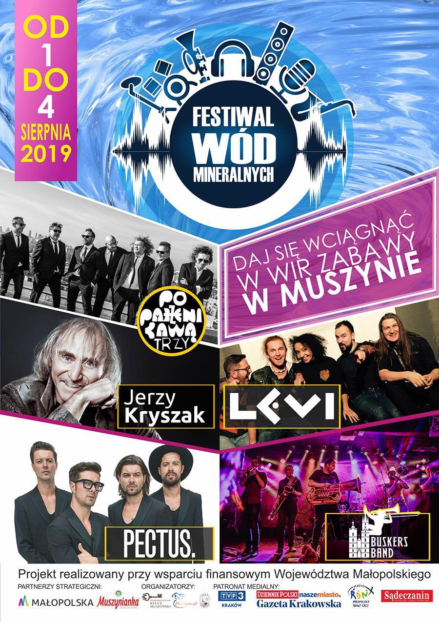 Festiwal Wód Mineralnych Muszyna 2019 - plakat