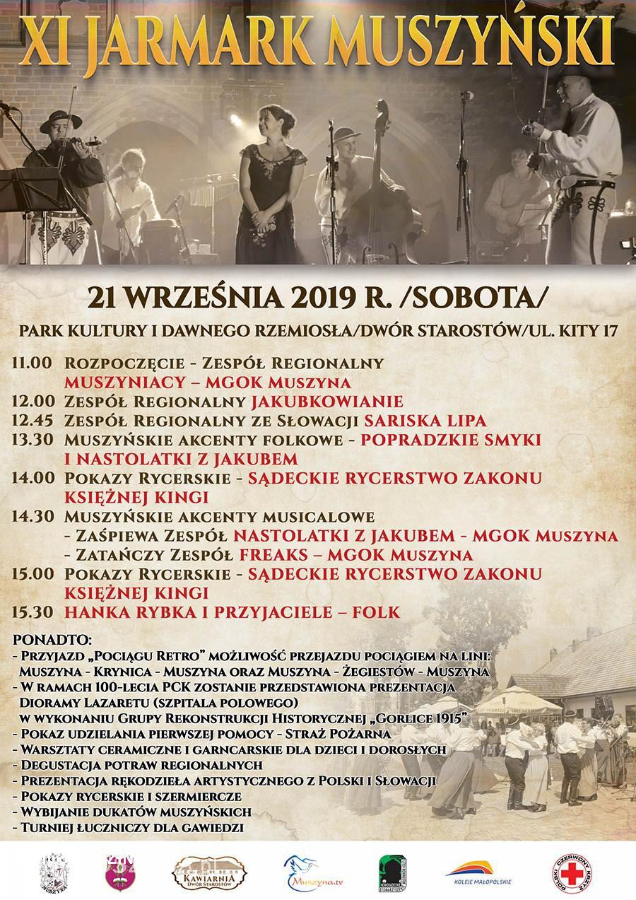 XI Jarmark Muszyński 2019 - plakat