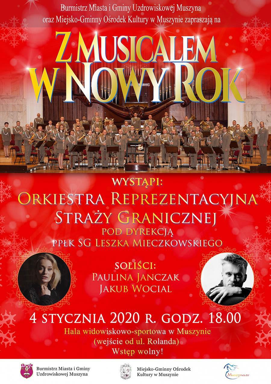 Z Musicalem w Nowy Rok - plakat
