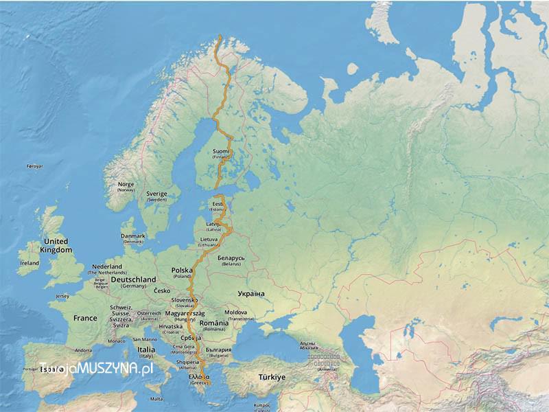EuroVelo11 - sieć szlaków rowerowych