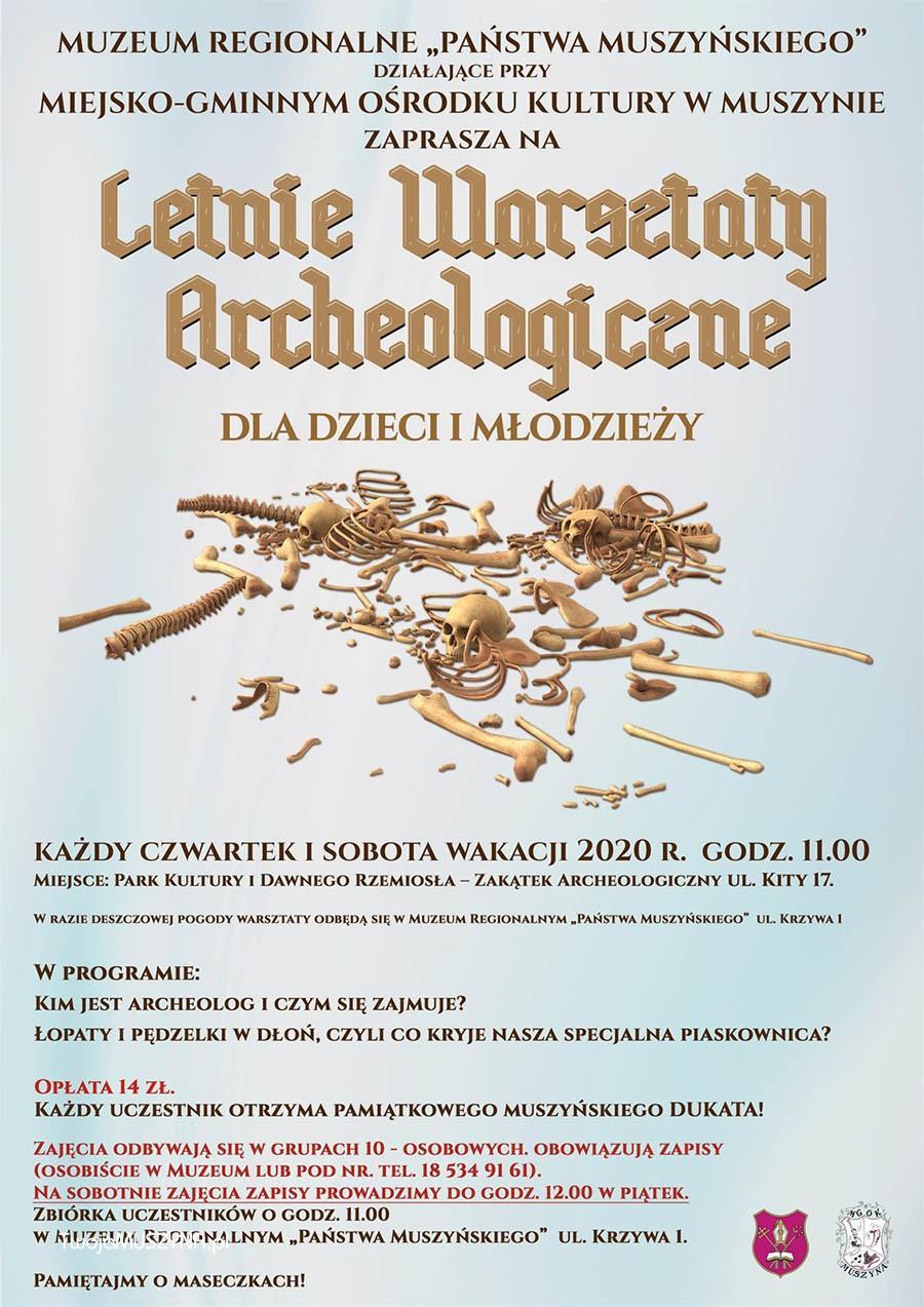 letnie warsztaty archeologiczne - plakat