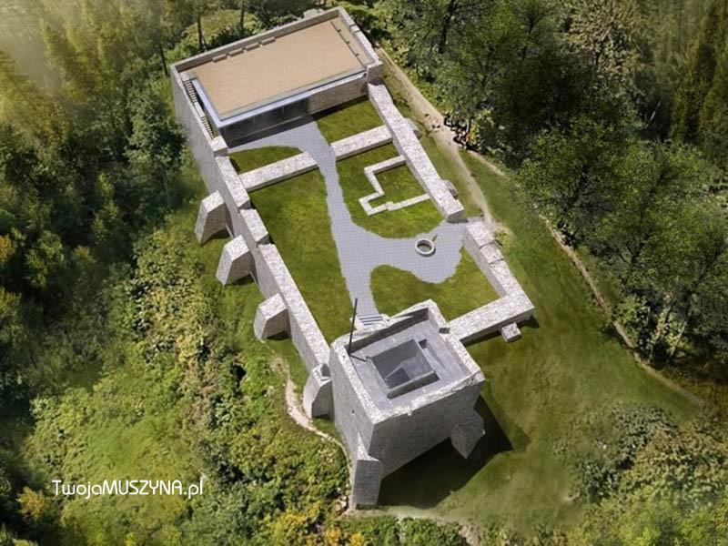 Renowacja i rozbudowa zamku w Muszynie - wizualizacja