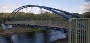 Zdjęcia z postępu prac - kładka rowerowa w Miliku - 05 maja 2020
