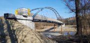 Zdjęcia z postępu prac - kładka rowerowa w Miliku - 19 marca 2020