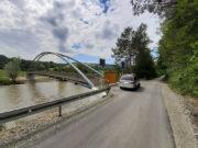 Zdjęcia z postępu prac - kładka rowerowa w Andrzejówce - 25 czerwca 2020